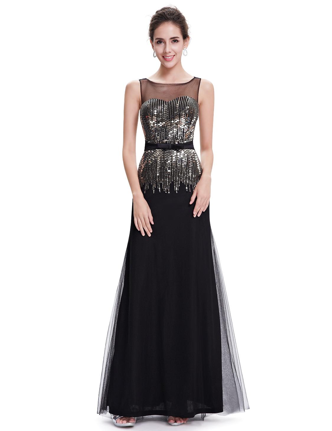 Черное платье длинное из фатина